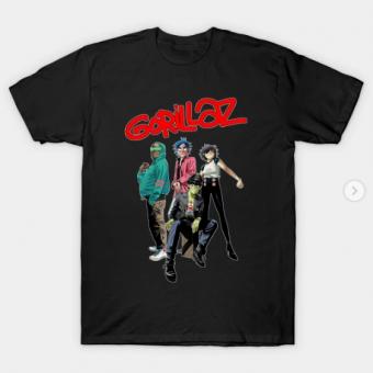 Style gorillaz T-Shirt black for men