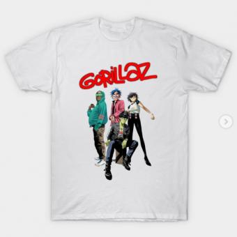 Style gorillaz T-Shirt white for men