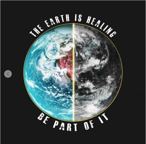 THE EARTH IS HEALING T-Shirt black design