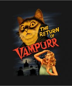 The Return of Vampurr T-Shirt black design