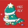 Tree-Rex T-Shirt red design