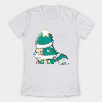 Tree Rex T Shirt white for women 1