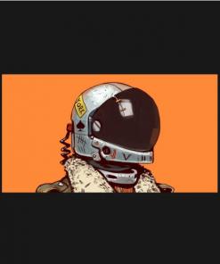 cosmonaut T-Shirt black design
