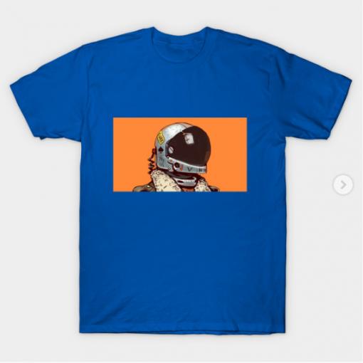 cosmonaut T-Shirt royal blue for men