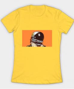cosmonaut T-Shirt yellow for women