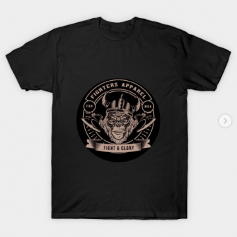 fighters apparel T-Shirt black for men