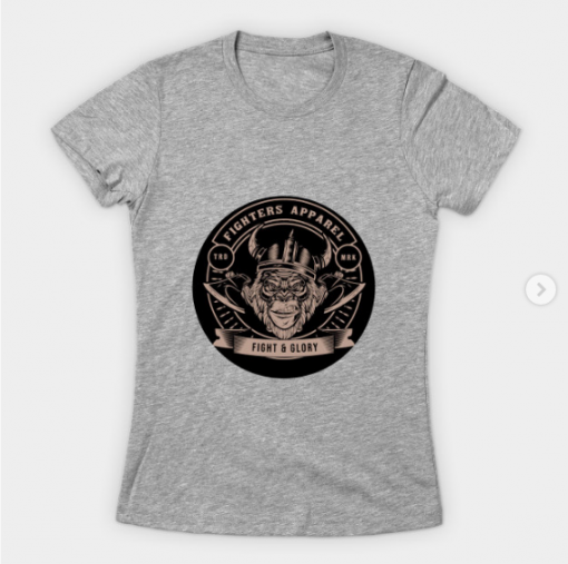 fighters apparel T-Shirt heather for women