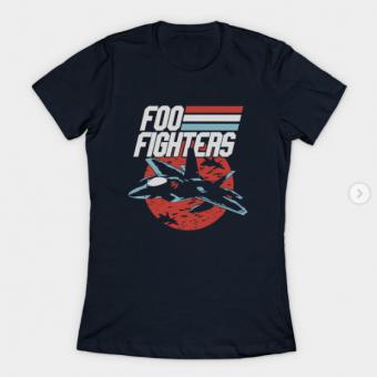 foo plane T-Shirt navy for women