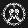 heart and peace symbol T-Shirt black design