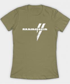 rammstein T-Shirt light olive for women