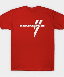 rammstein T-Shirt red for men