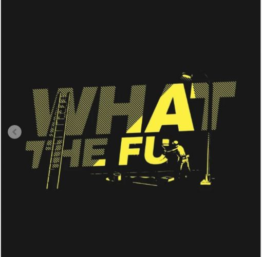 what the fu T-Shirt black design