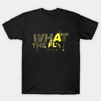whaat the fu T-Shirt black for men
