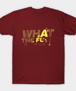 what the fu T-Shirt maroon for men