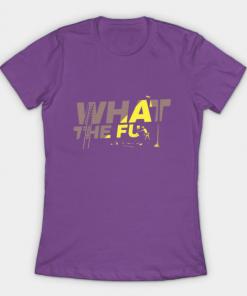 what the fu T-Shirt purple for women