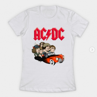 ACDC RIDE T-Shirt white for women