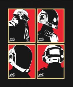 Daft Punk 02 T-Shirt black design