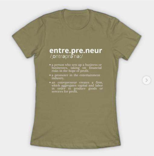 Entrepreneur T-Shirt light olive for women