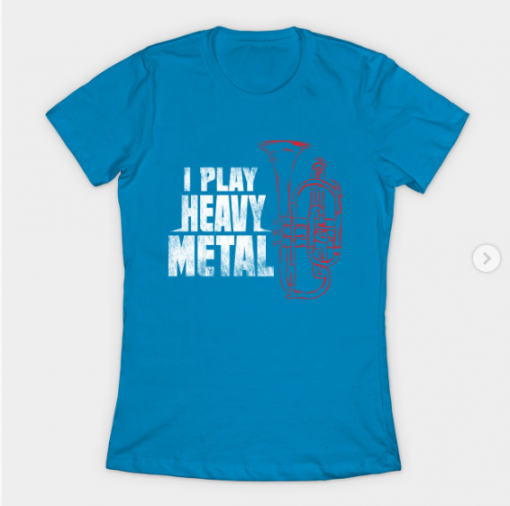 Euphonium T-Shirt teal for women