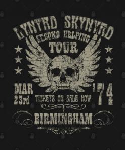 Lynyrd Skynyrd 1974 black design