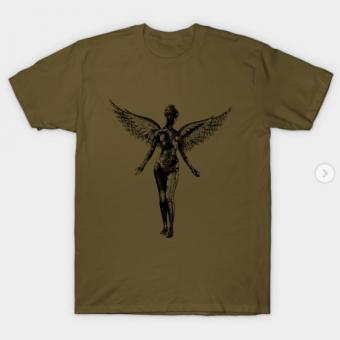 NIRVANA in utero T-Shirt military green for men
