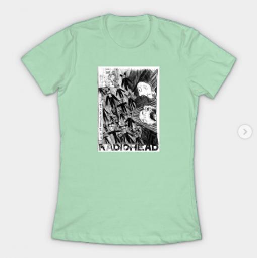 Radiohead T-Shirt mint for women