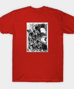 Radiohead T-Shirt red for men