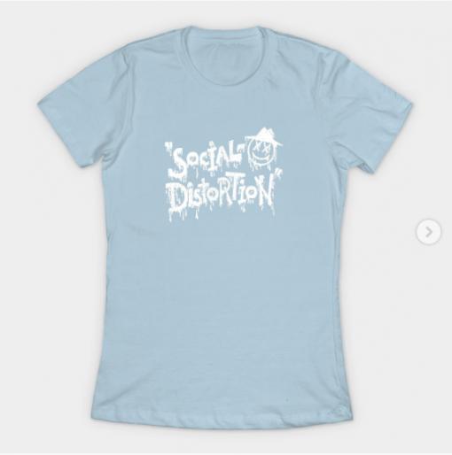 Social Distortion T-Shirt light blue for women