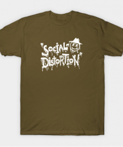 Social Distortion T-Shirt military green for men