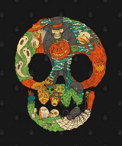 Spooky Skull T-Shirt black design