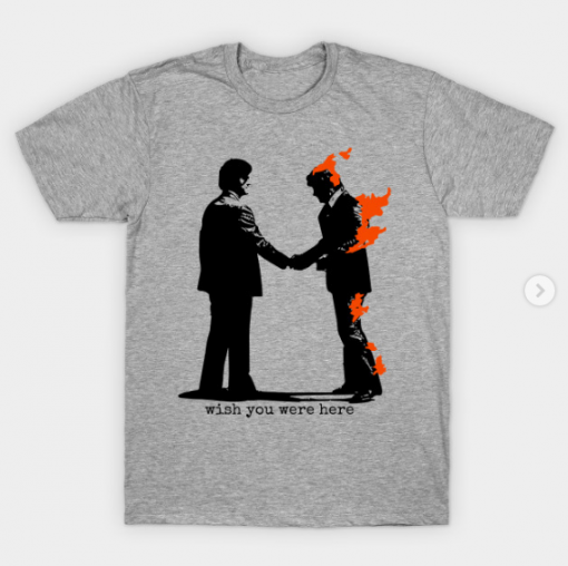 Wish You Were Here T-Shirt heather for men