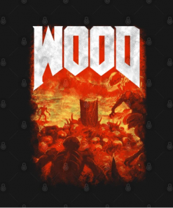 Wood T-Shirt black design