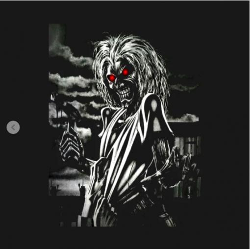 memorial iron maiden T-Shirt black design