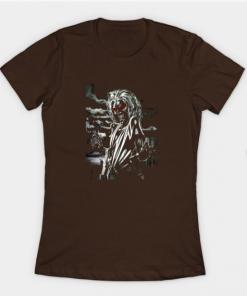 memorial iron maiden T-Shirt brown for women