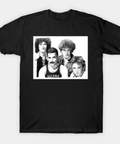 white queen group T-Shirt black for men