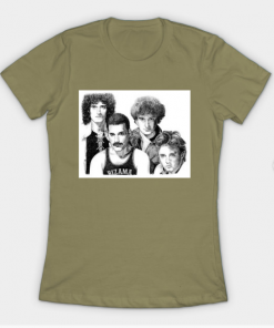 white queen group T-Shirt light olive for women