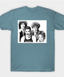 white queen group T-Shirt slate for men