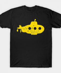yellow submarine T-Shirt black for men