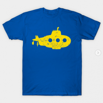 yellow submarine T-Shirt royal blue for men